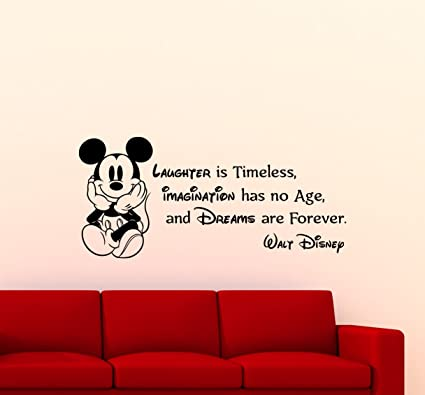 Captivating Mickey Mouse Wall Decal Walt Disney Quote Nursery Custom Cartoon Disney  Vinyl Sticker Home Nursery Room