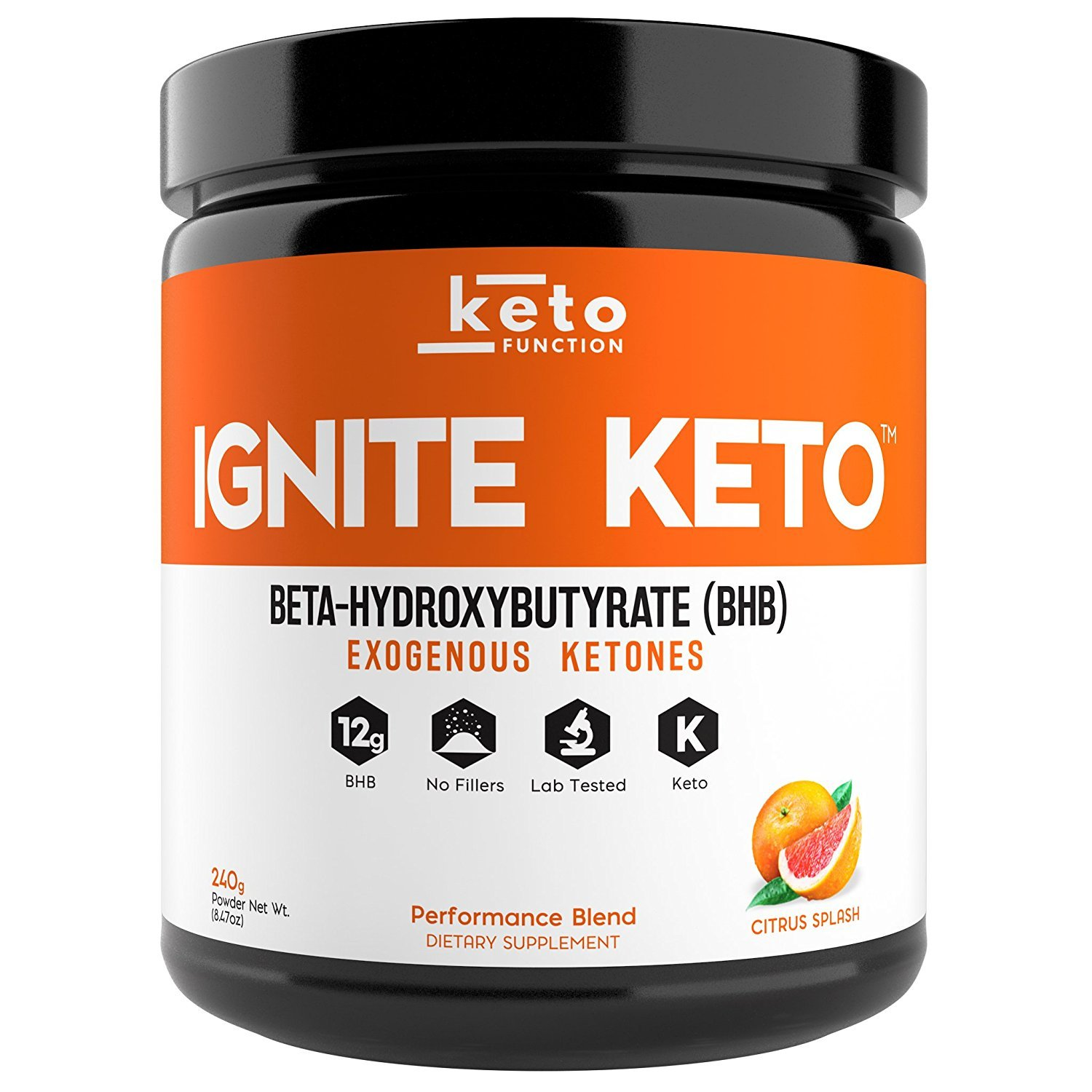 IGNITE KETO Drink - Instant Exogenous Ketones Supplement - 12g Pure BHB Salts - Fuel Ketosis, Energy, and Focus - Best goBHB Ketone Drink Powder Mix - Perfect for Low Carb Keto Diet by Keto Function (Image #1)