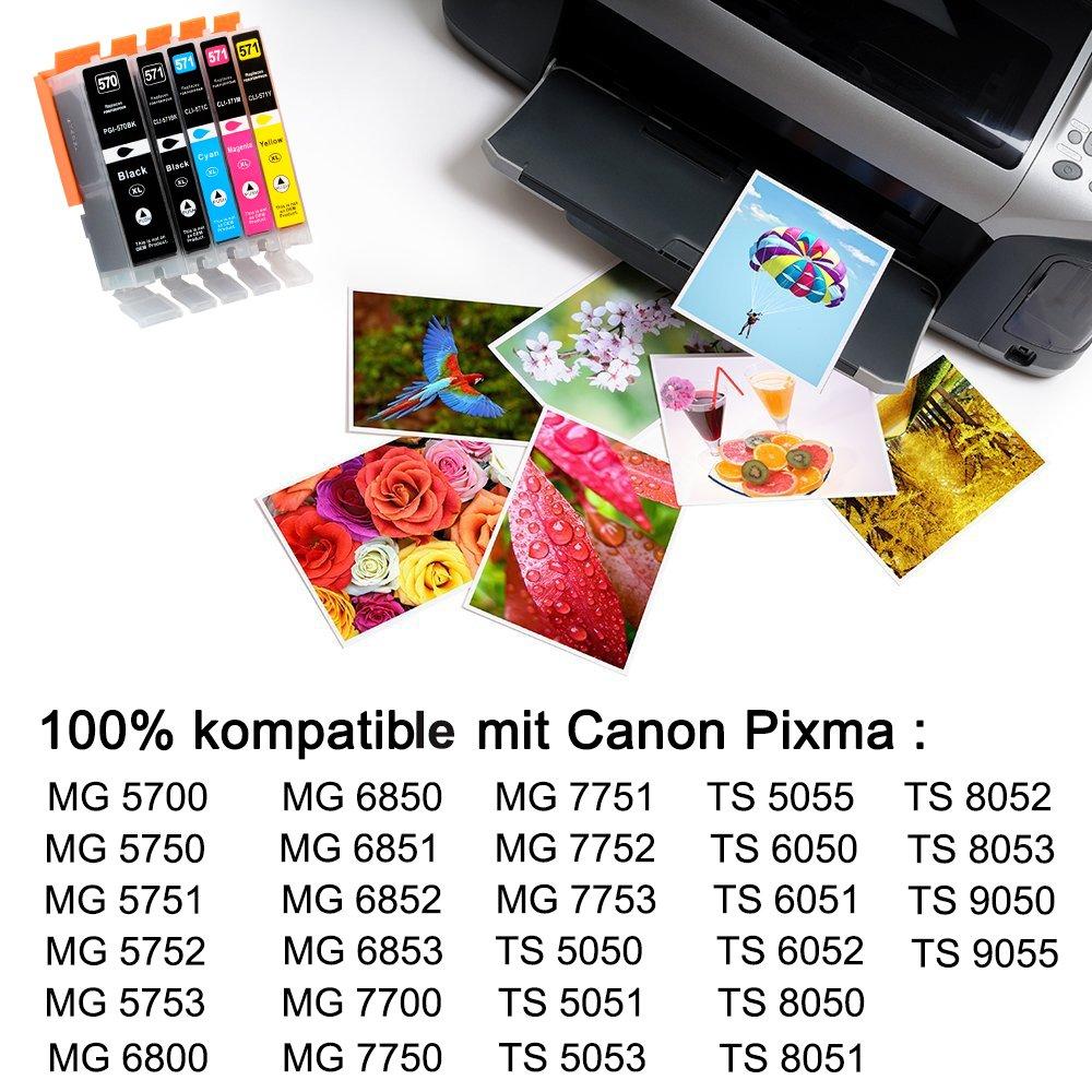 D&C 25ml Black Cartuchos de impresora compatibles para Canon Pixma ...