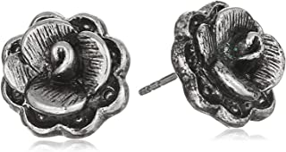 product image for 1928 Jewelry Silver-Tone Flower Stud Earrings