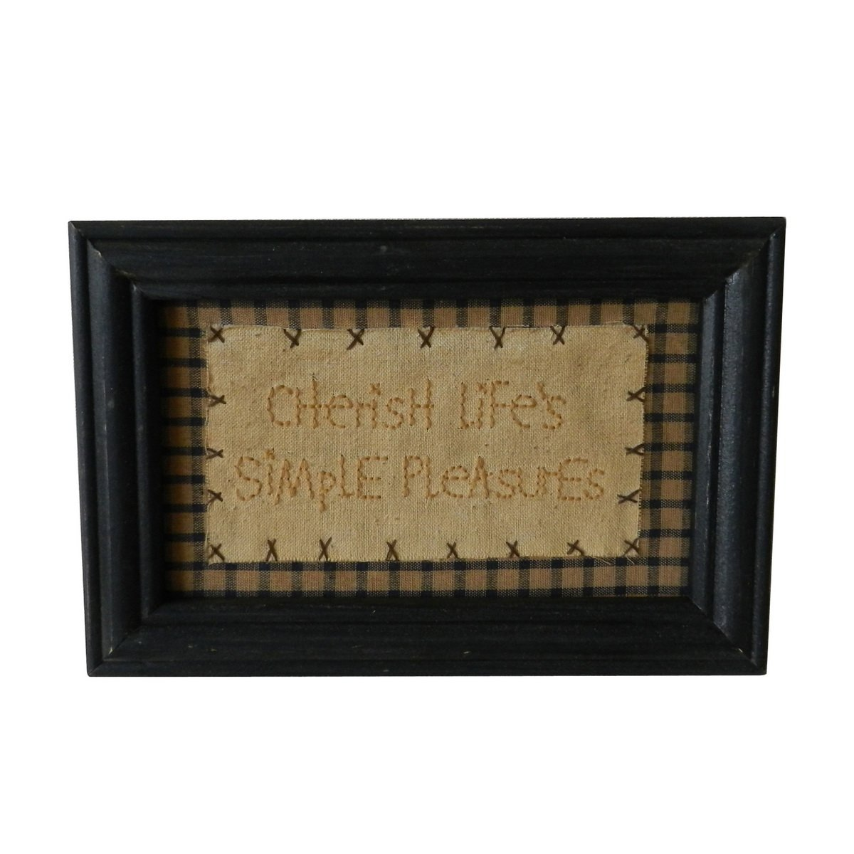CVHOMEDECO 11 x 14 Primitives Antique Bless This House o Lord we Pray Keep it Safe Both Night /& Day Stitchery Frame Wall Mounted Hanging Decor Art