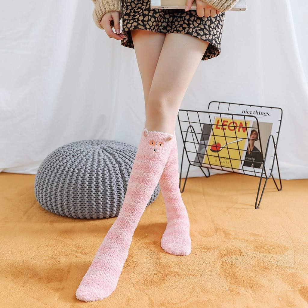 Womens Thermal Faux Wool Socks Lovor Winter Warm Novelty Funny Christmas Printed Knit Long Stockings Socks