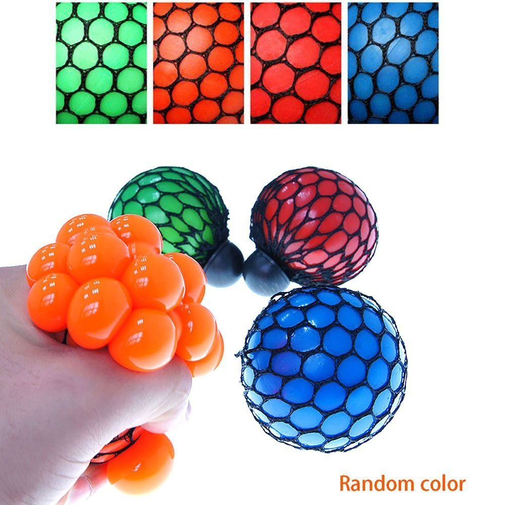 Great Gift for Children Creative Water Polo Squeezing Grape Vent Decompression Ball Hand Wrist Toy Sunshier