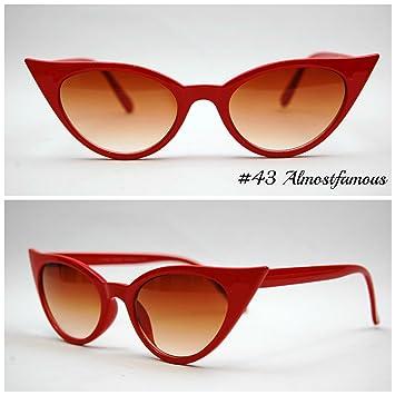 ff62bfb7e9 Kitten Cat(Small) Red VTG 50s 60s Style womens Cat Eye Sunglasses Retro