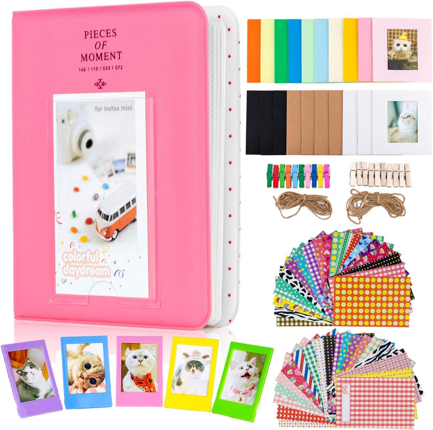 Amimy Fotoalbum Zubehör Bundles Set Für Fujifilm Instax Mini 7s 8 8 9 25 50 S 70 90 Polaroid Snap Pic 300 Hp Ritzel Kodak Mini 3 Zoll Film 64 Taschen Flamingo Pink Küche Haushalt