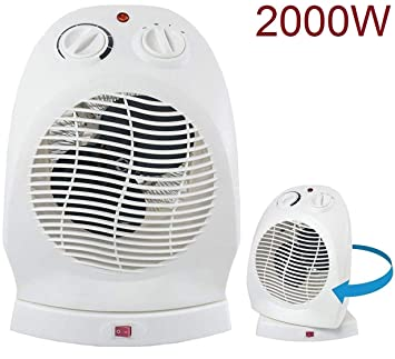 AVANT Calefactor de Aire radiador Estufa oscilante Giratorio 2000w Ventilador: Amazon.es: Hogar
