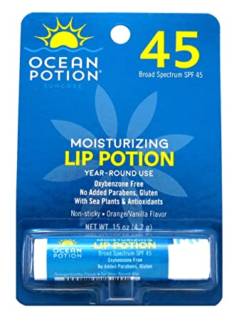 Ocean Potion Moisturizing Lip Potion SPF 45 0.15 oz (Pack of 2) OLAY 4-in-1 Daily Facial Cloths, Normal Skin 33 ea (Pack of 4)