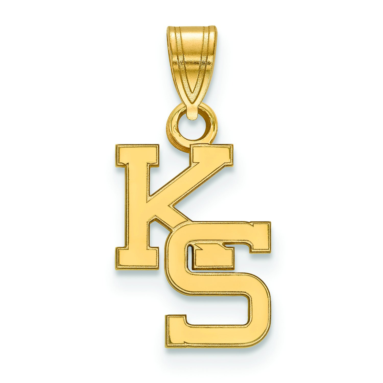 Kansas State Small ( 1 / 2インチ)ペンダント( 10 Kイエローゴールド)   B01IYET4ZK