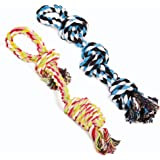 UPSKY Dog Rope Toys Dog Grinding Teeth 2 Nearly Indestructible Dog Toys Dental Cleaning Product Prevents Boredom and Relieves
