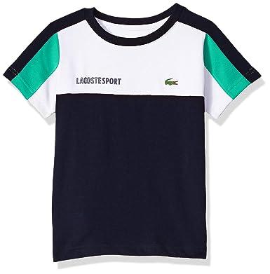 fe695e3a0 Amazon.com  Lacoste Boy Sport Short Sleeve Color Block Tennis Tee Shirt   Clothing