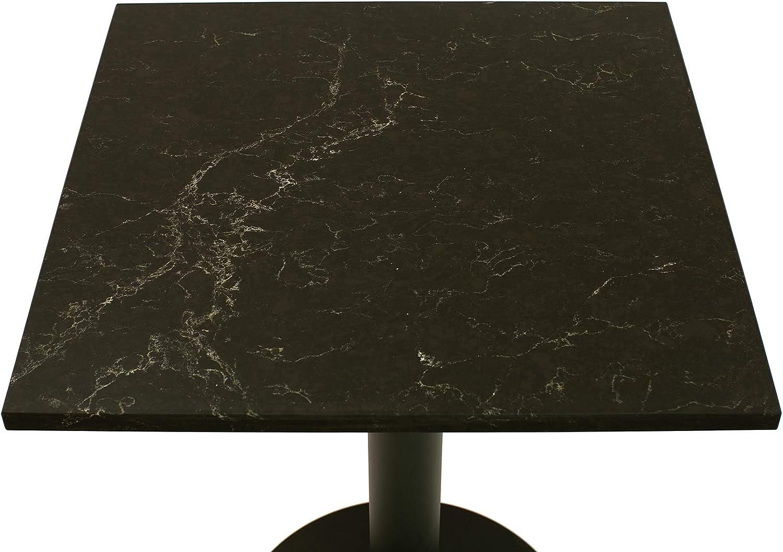 SLOVAK STONE Steintischplatte in Caesarstone Vanilla Noir 5100 rund 40 cm Bistrotische//Gartentisch//Gastronomie