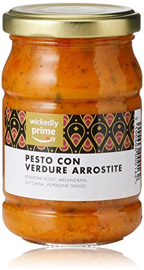 Marca Amazon - Wickedly Prime Pesto de hortalizas asadas (6x190g)