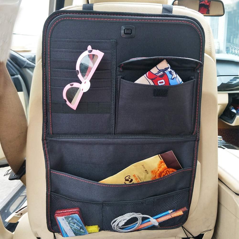 HomDSim Oxford Cloth Car Backseat Organizer with Foldable Table Tray Kids Seat Back Organizer for Car Travel Strorage Bag