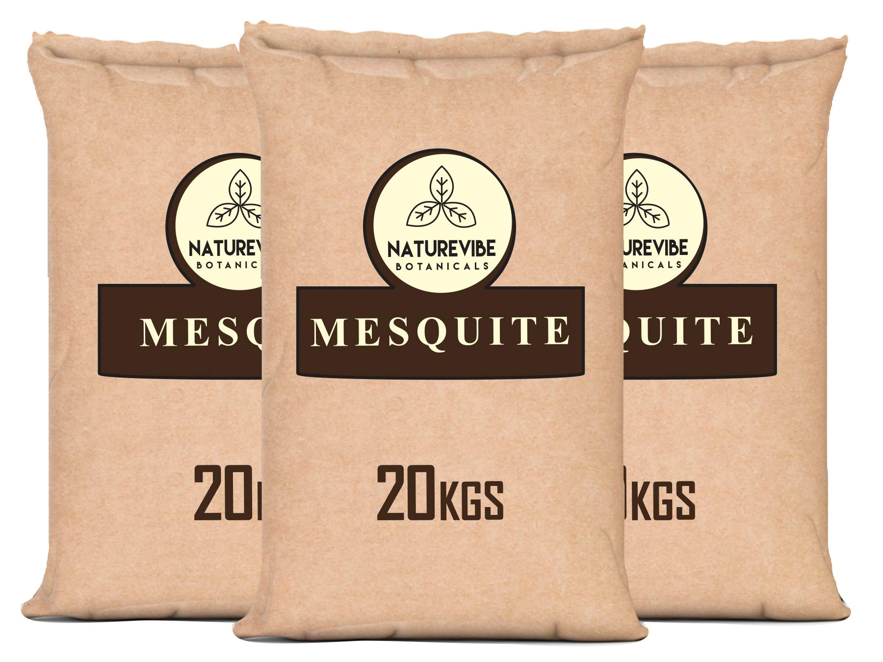 Naturevibe Botanicals Organic Mesquite Powder 44 lbs, 20 kg Paper Bulk Bag… by Naturevibe Botanicals (Image #1)