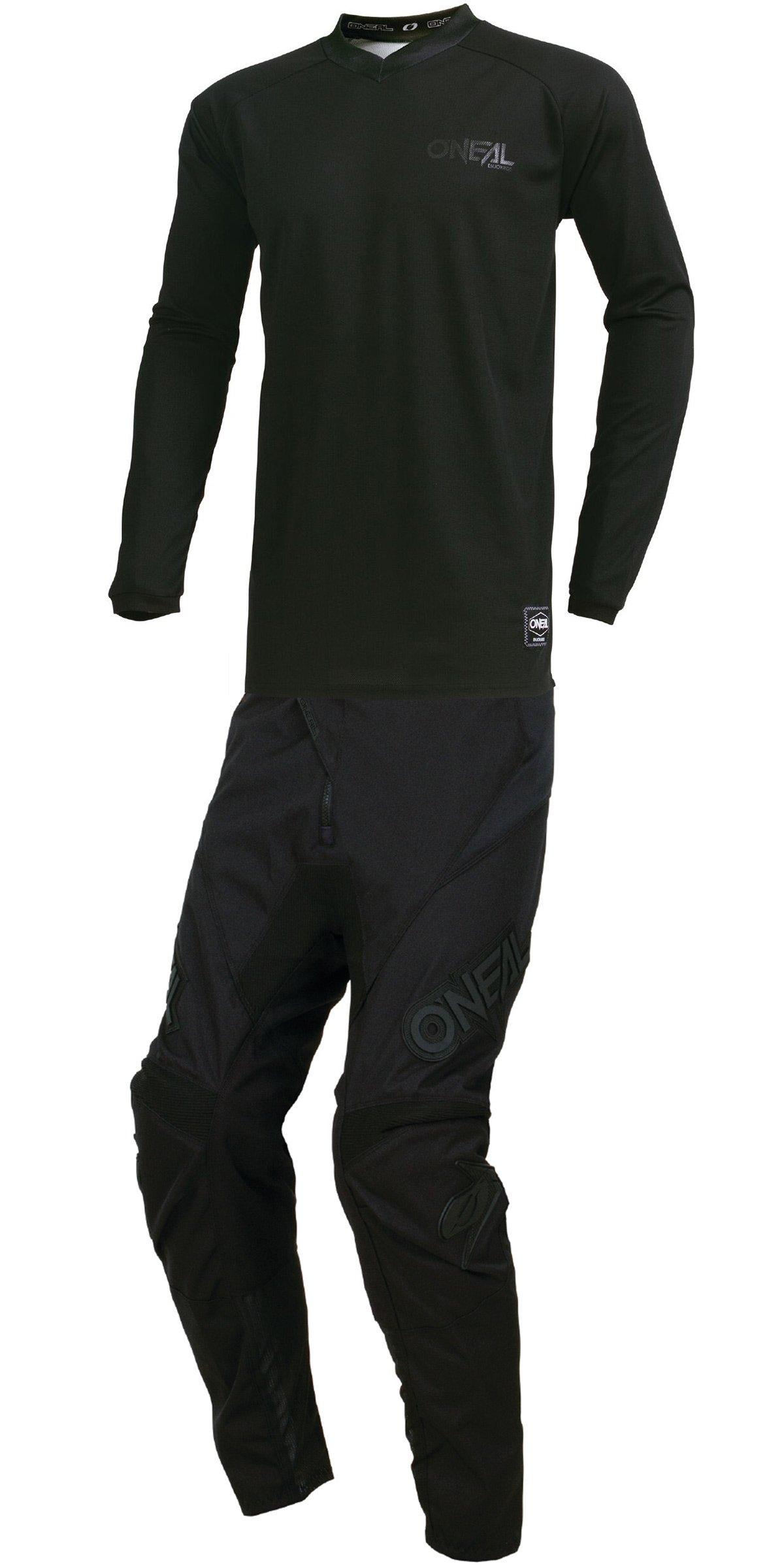 O'Neal - 2019 Element Classic (Mens Black Large/34W) MX Riding Gear Combo Set, Motocross Off-Road Dirt Bike Jersey & Lite Pant