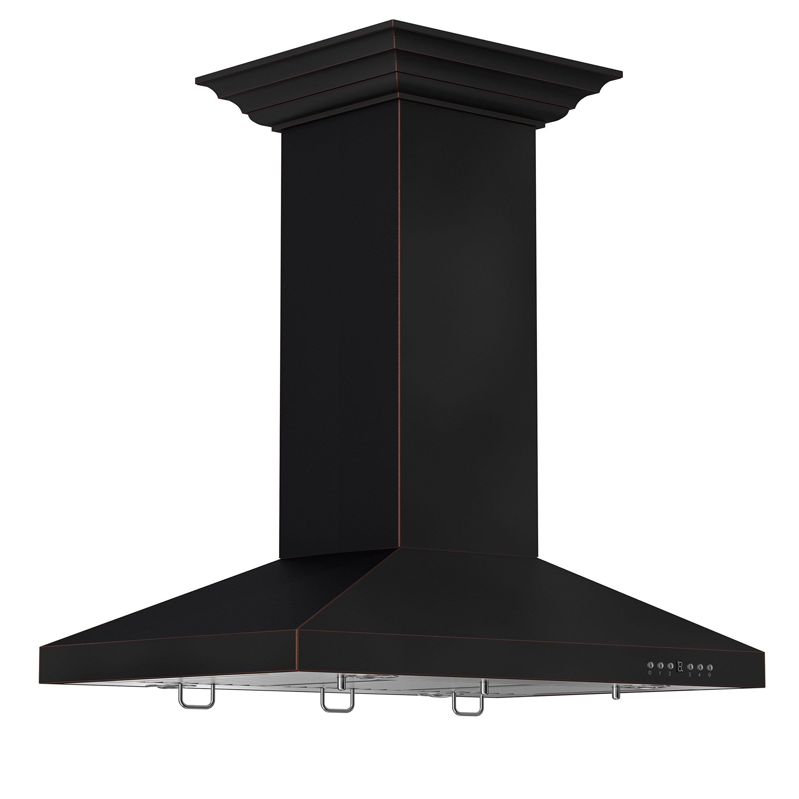 ZLINE 36 in. 760 CFM Designer Series Oil-Rubbed Bronze Island Mount Range Hood (8KL3iB-36) by Z Line Kitchen and Bath