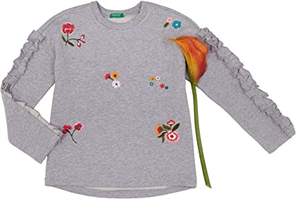 United Colors of Benetton Mädchen Sweater LS Pullover