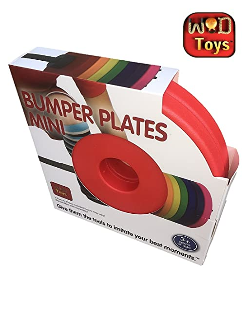 WOD Toys Colored Bumper Plates Mini Add On Bumper Plates