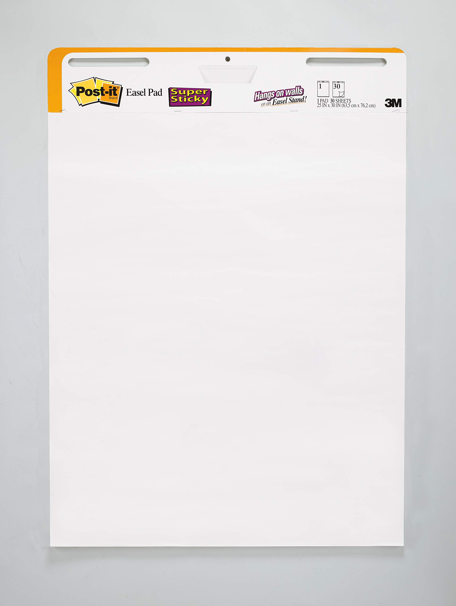 Post-it Super Sticky Easel Pad, 25 x 30 Inches, 30 Sheets/Pad, 2 Pads (559 STB), Large White Premium Self Stick Flip Chart Paper, Rolls for Portability, Hangs with Command Strips by Post-it