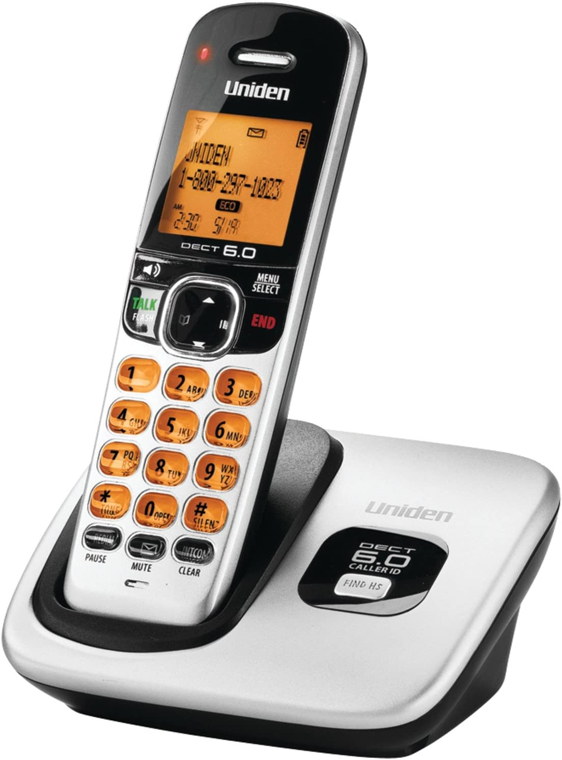 Uniden D1760-8 Cordless Phone w// Enhanced Security /& 7 Extra Handsets