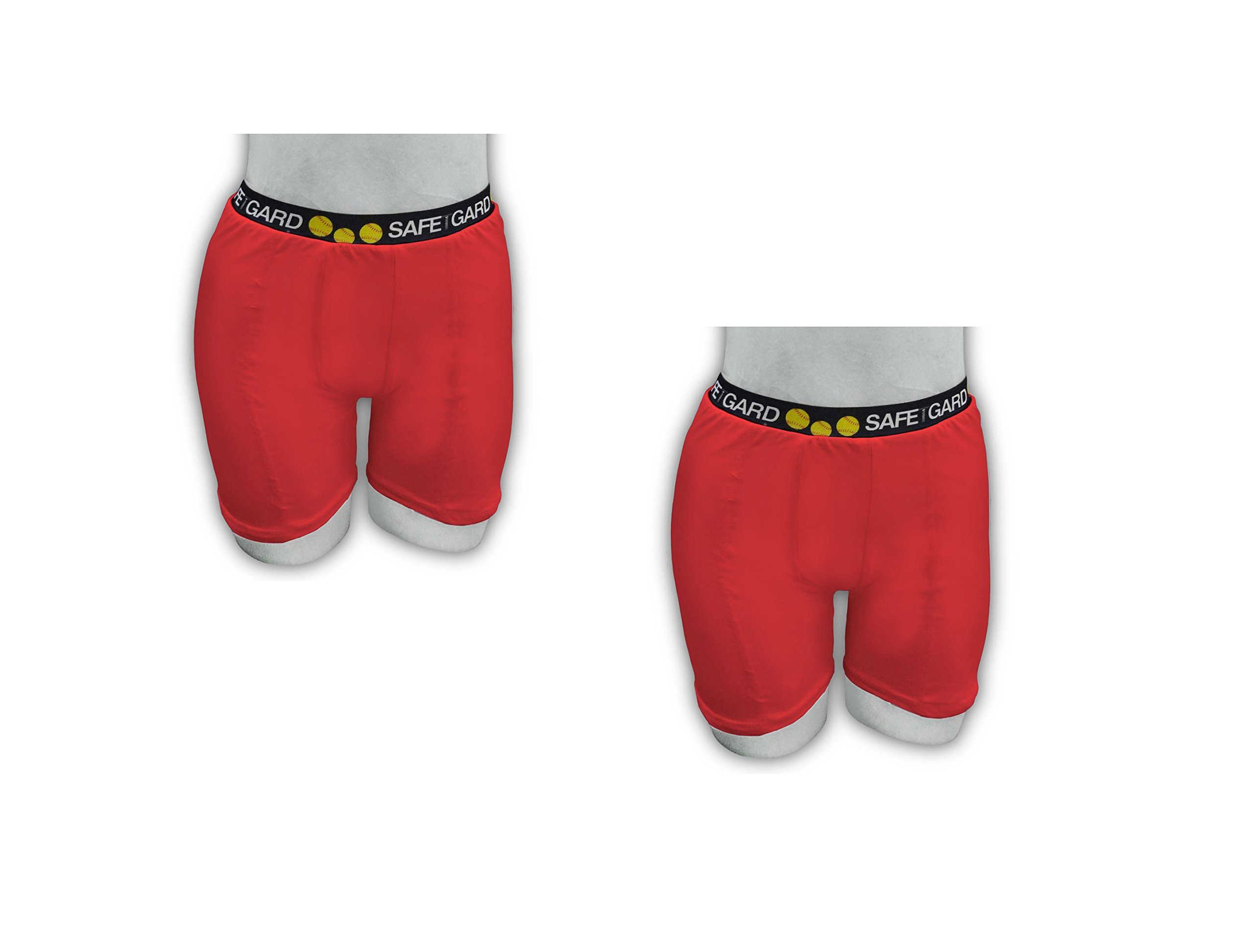 2 Pack Special! SafeTGard Womens Regular-Rise Sliding Shorts (5 Colors Available) (Red/Red, Large) by Safe-T-Gard