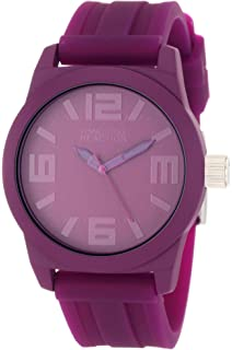 Kenneth Cole REACTION Womens RK2226 Round Analog Purple Dial Watch