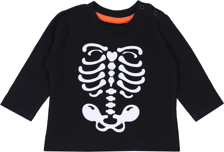 Blusa Negra con Esqueleto Blanco PRIMARK 18-24 Meses: Amazon ...