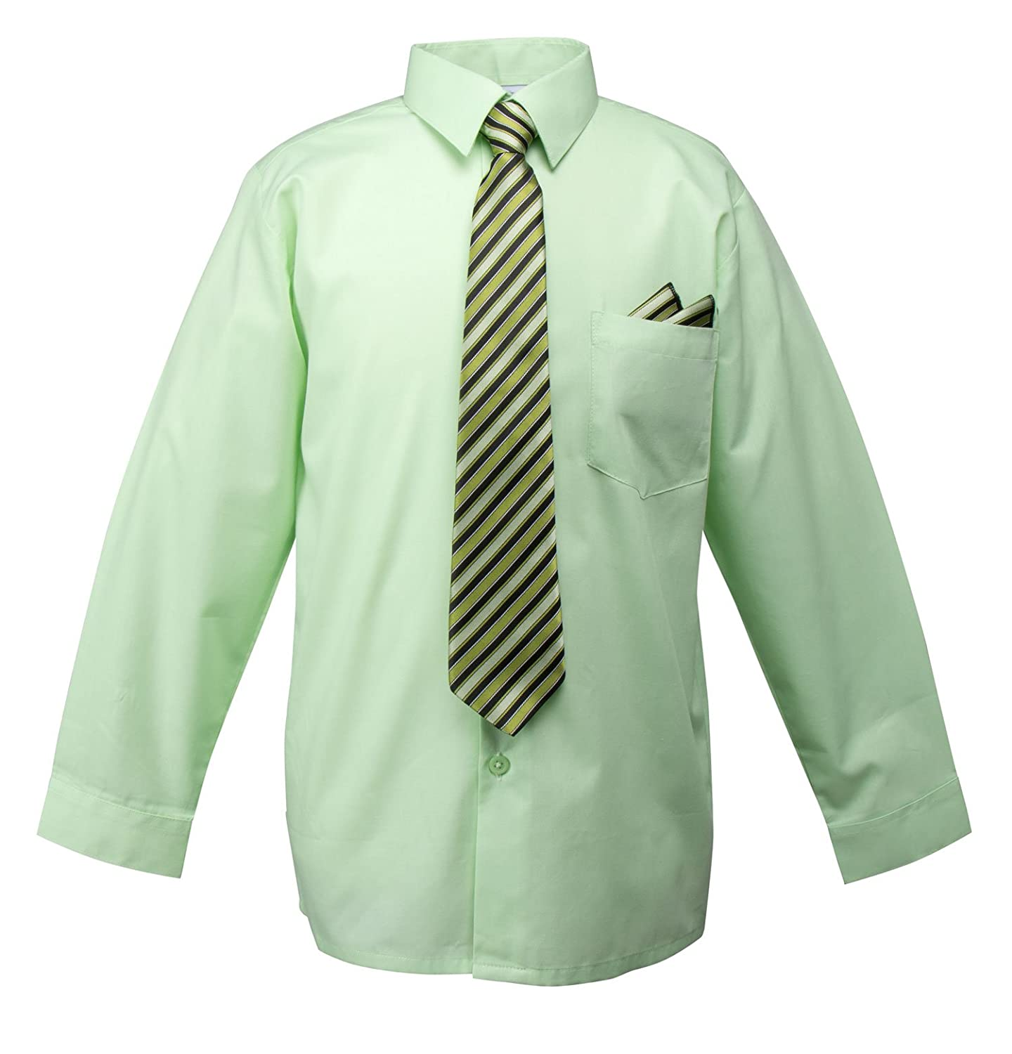 Spring Notion Boys Dress Shirt with Tie and Handkerchief Set ERF858-SNS-858