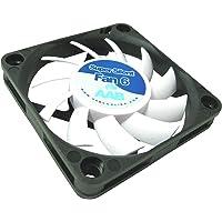 AAB Cooling Super Silent Fan 6 - 60mm Ventilateur pour Boîtier et Imprimante 3D Silencieux et Efficace avec 4 Pads Anti Vibrations | 12V | Ventilation PC | 6cm | Ventilo PC | Fan PC