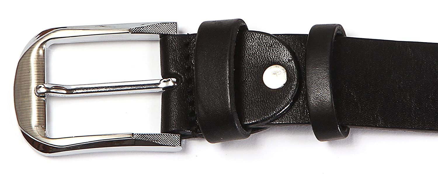 Genuine Natural Cow Leather 35-40 mm Jean Dress Casual Solid Leather Goods Mens Belt