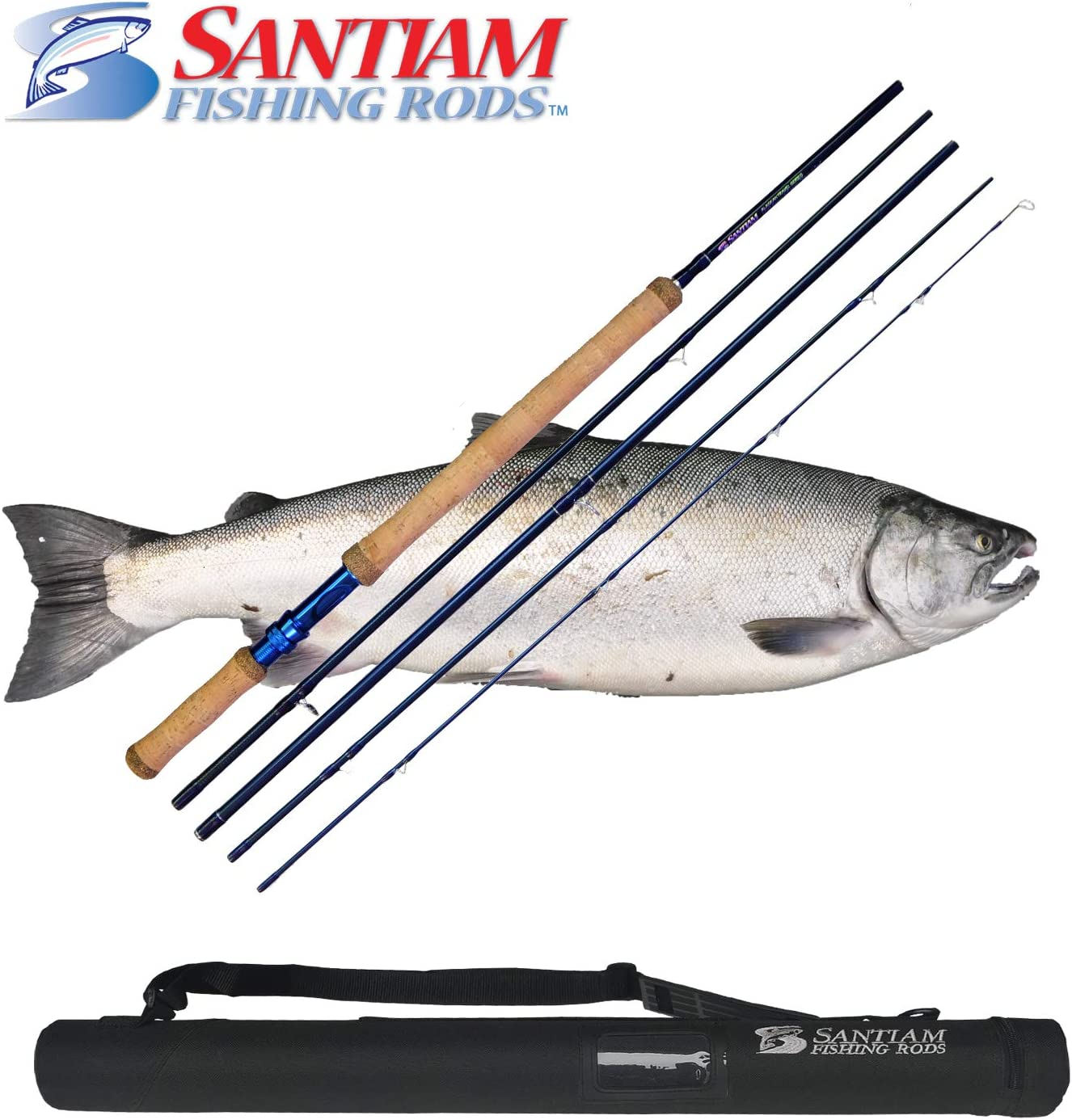 Santiam Fishing Rods 5-piece 11 2 8 9wt Travel Switch Rod w Hard Case