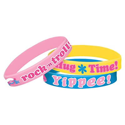 amscan Rubber Bracelets | Trolls Collection | Party Accessory: Toys & Games