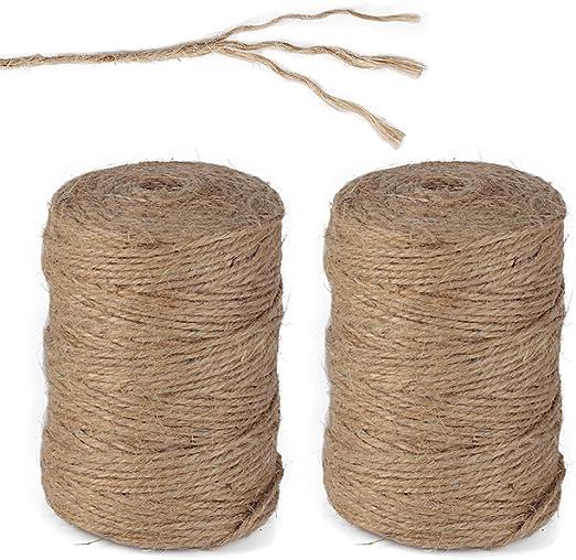 100 Meters 2mm Roll Of Natural Jute Hemp Rope Twine String Craft DIY Handmade