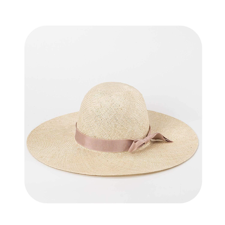 002 Moontone Trim Sun Hat Beach Ladies Straw Hat for Summer Holiday Sinamay Wide Brim Hats