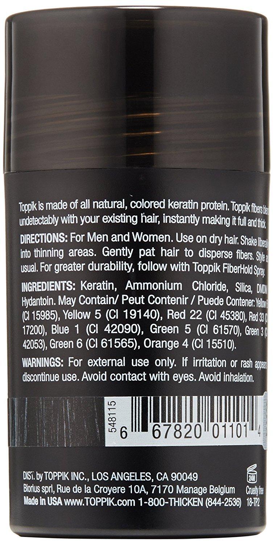 TOPPIK Hair Building Fibers, Black, 0.42 oz. by TOPPIK (Image #3)