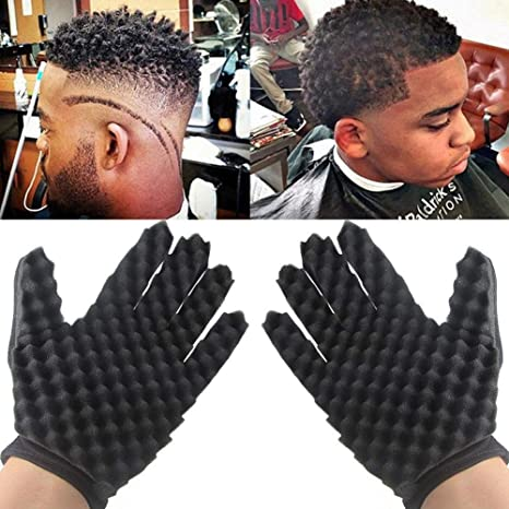 Fabulous Zyjfp Curl Hair Sponge Gloves Brush Gloves For Afro Twists Coil Natural Hairstyles Runnerswayorg