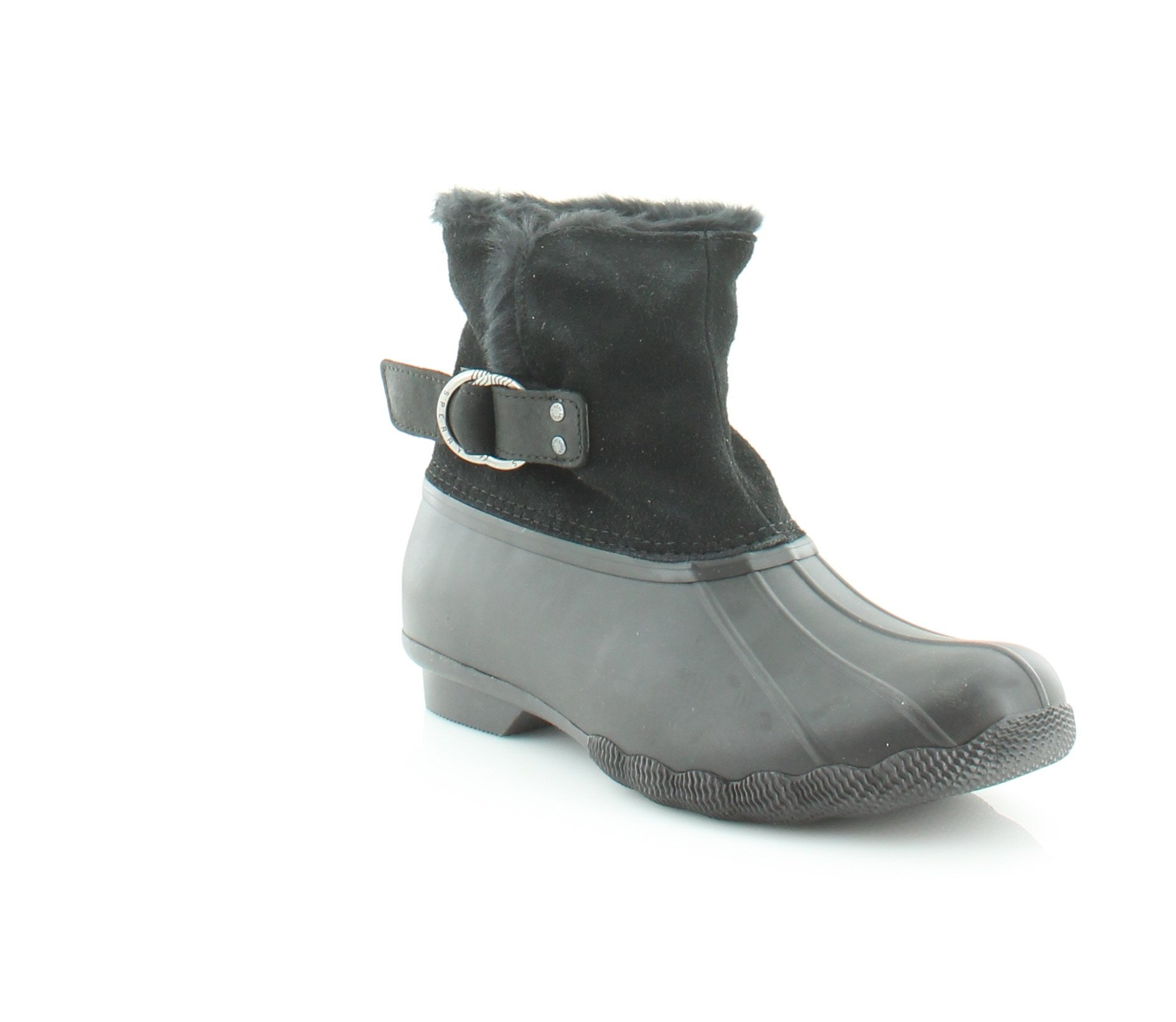 Sperry Top-Sider Saltwater Ivy Women's Boots Black Size 7.5 M