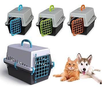 10570 Transportin rejilla plástico de 50 cm perros y gatos - Verde: Amazon.es: Hogar