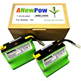Lot de 2 batteries d'accumulateurs lithium-ion 4400mAh chacune Convient pour Neato XV-11, XV-12, XV-14, XV-15, XV-21, XV-25, XV Essential, XV Signature et XV Signature Pro et Vorwerk VR100