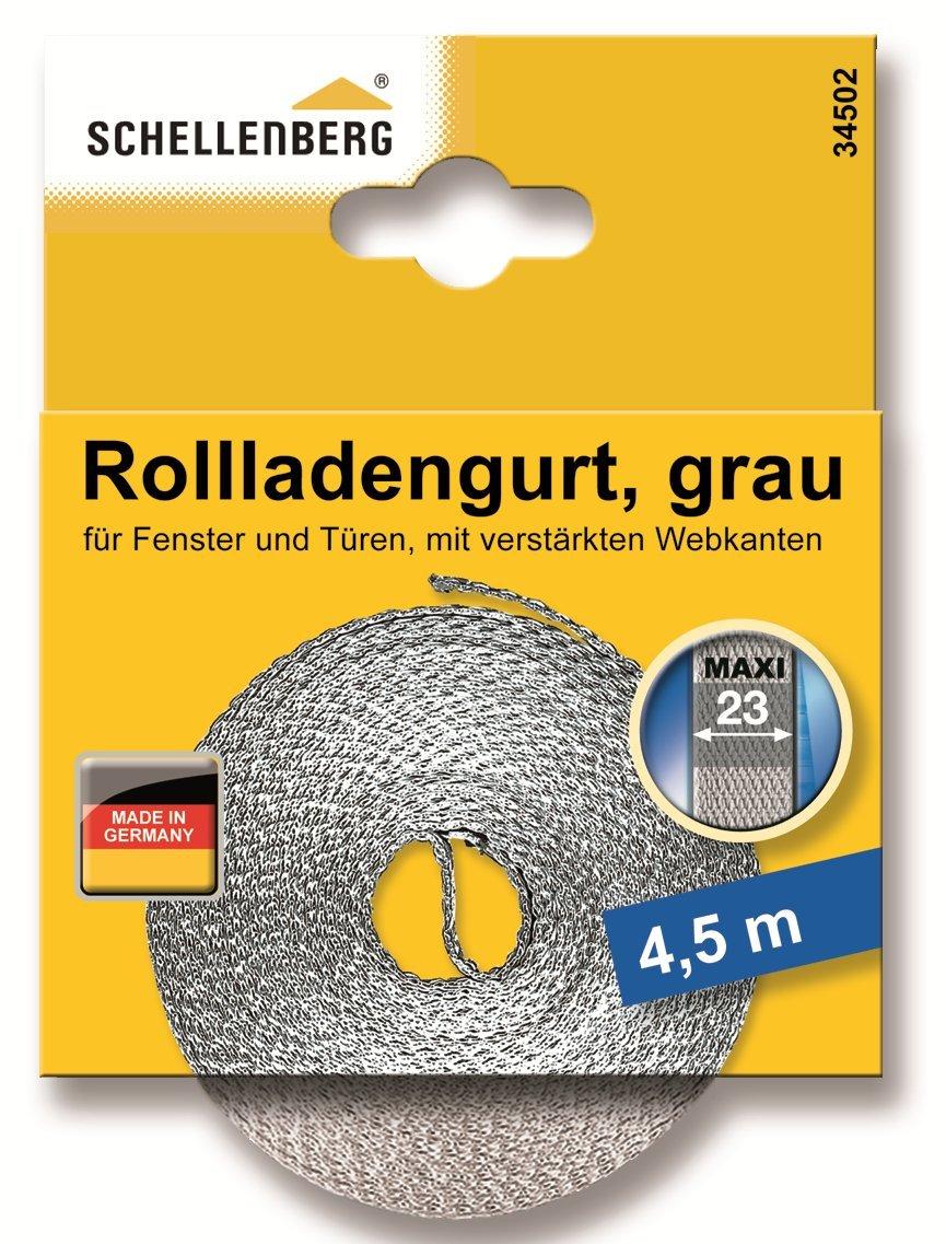 wei/ß Schellenberg 36003 Rollladengurt 23 mm//6.0 m