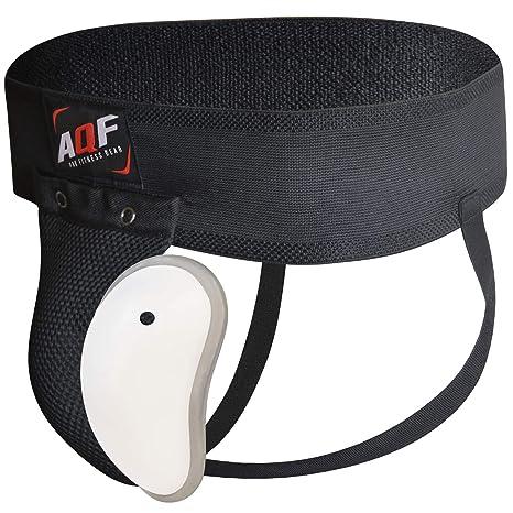 AQF Boxeo Coquilla Protectora para la Ingle con Copa con Gel El/ástico Suspensorio Abdominal para MMA Artes Marciales Boxeo Muay Thai Kickboxing