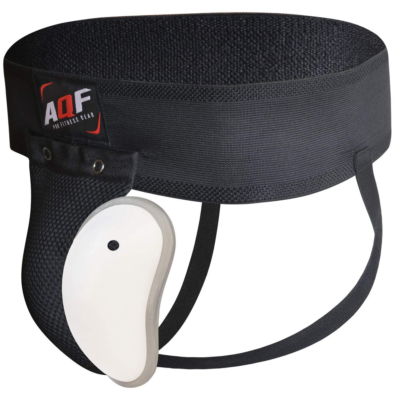 AQF Kampfsport Tiefschutz Boxen MMA Abdominal Leistenbecher Jockstraps M/änner Muay Thai Abdominal Protector Adult Shock Unterst/ützerin