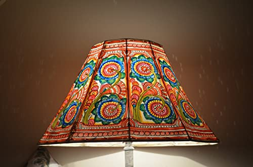 Leather Floral Lamp Shade