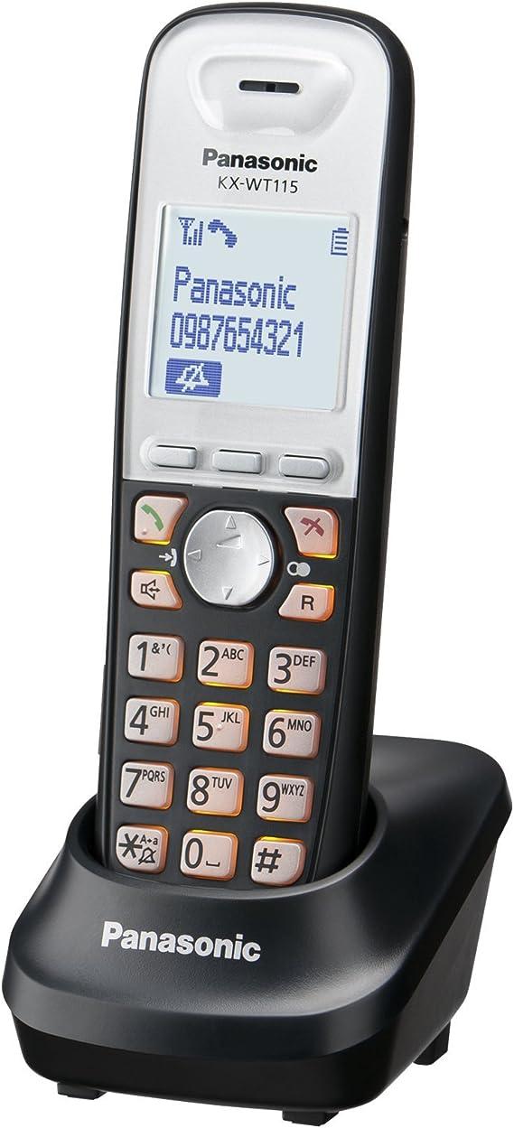Panasonic KX-WT115CE - Teléfono inalámbrico DECT (base de carga, pantalla LCD, agenda, conexión para auriculares, manos libres) (importado) [versión importada]: Amazon.es: Electrónica