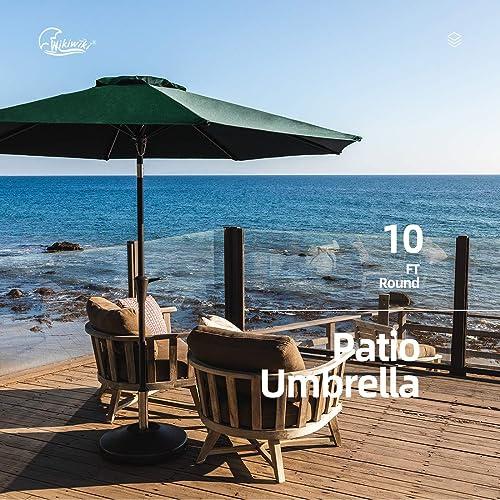 wikiwiki 10ft Patio Umbrella Outdoor Market Table Umbrella