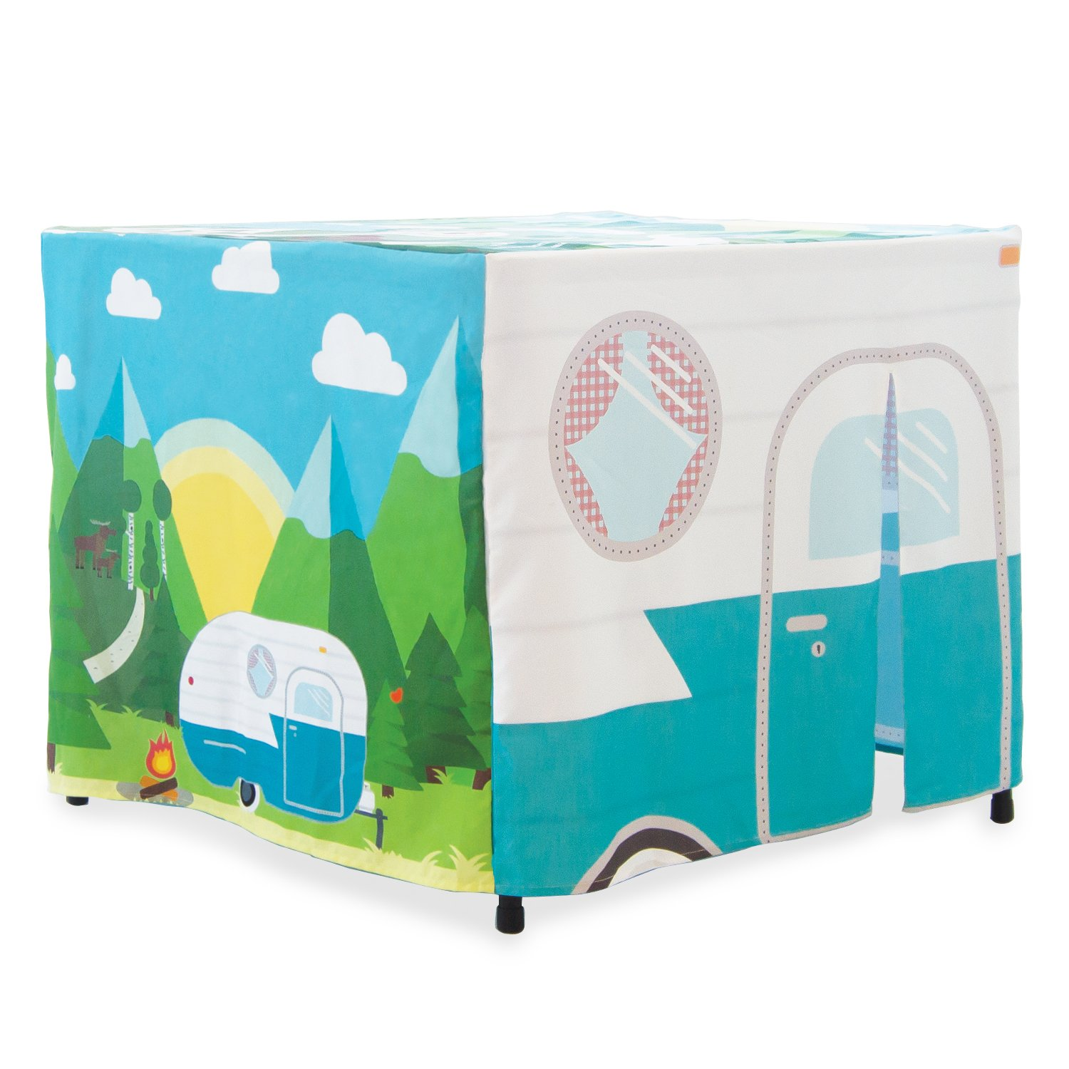 Happy Camper Card Table Cover
