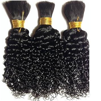 Amazon Com Natural Curly Kinky Human Hair For Tree Braids
