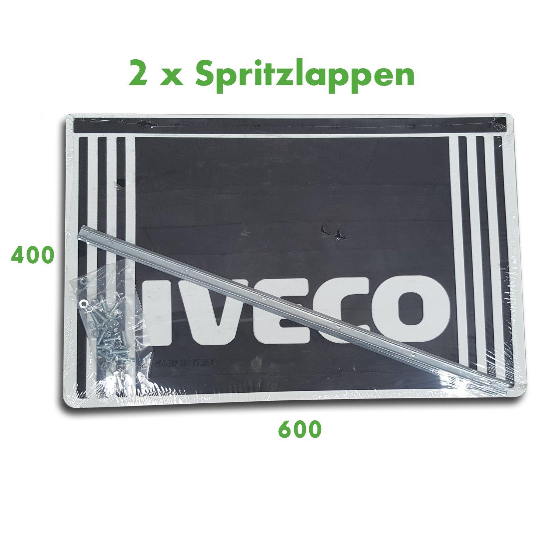 Spritzlappen Spritzschutz LKW Anhänger IVECO 2 x Schmutzfänger 400 x 400