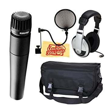 Shure SM57-LC Instrument/Vocal Microphone Bundle with Mic Bag