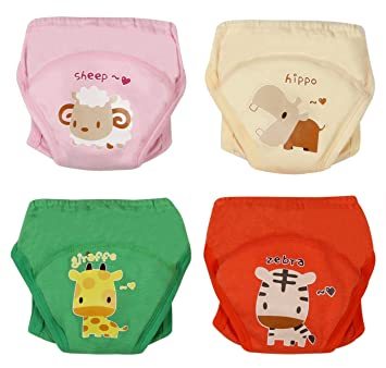d020bec75 Amazon.com   4Pack Baby Girls Traning Pants Underwear Toddler Cotton ...